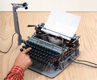Illustration for article titled Musical Typewriter Makes Your Annoying Poetry Double As Annoying Music