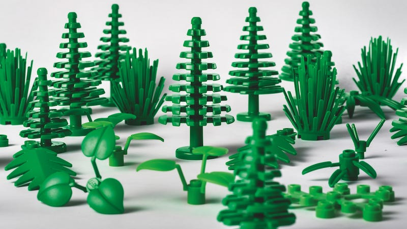 Green plastic.