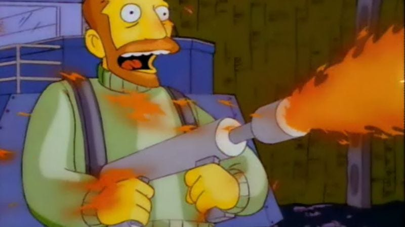 Presumably, Brooks' latest voice role won't involve quite so much wanton destruction. (The Simpsons)