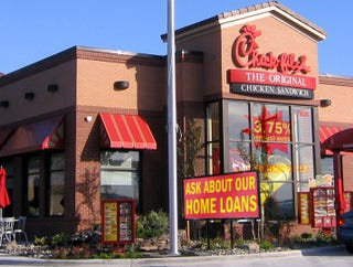Illustration for article titled Banking Reform Measure Prevents Chick-Fil-A From Calling Itself A Bank