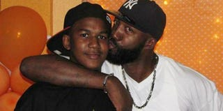 Trayvon Martin and his father, Tracy (family photo)