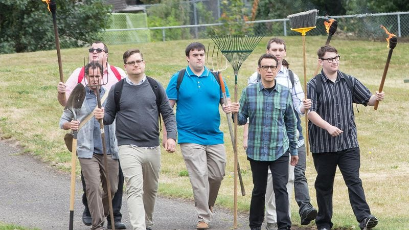 Illustration for article titled Fred leads a nerd revolt on a clever Portlandia