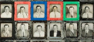 Illustration for article titled This Mystery Man Took Hundreds Of Photobooth Self-Portraits—But Why?