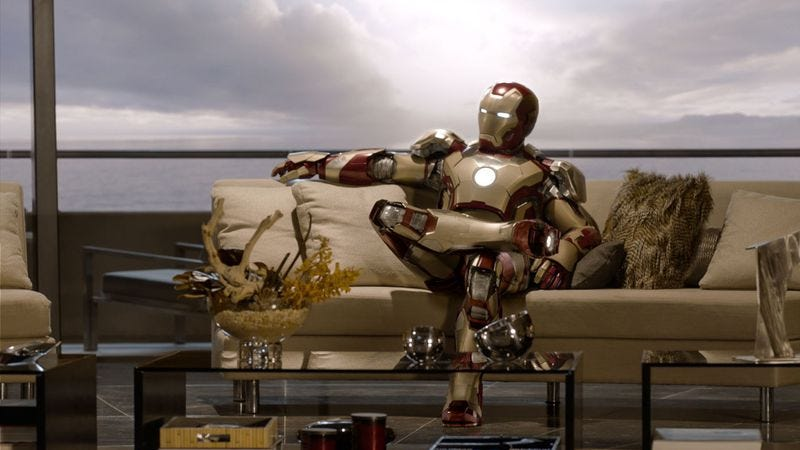Illustration for article titled Caption Contest: Iron Man relaxes
