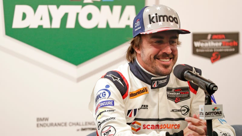 Fernando Alonso after the 2018 24 Hours of Daytona.