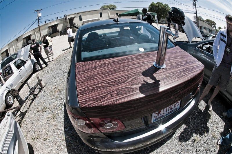 trunklid beer tap is best worst car mod ever. Black Bedroom Furniture Sets. Home Design Ideas
