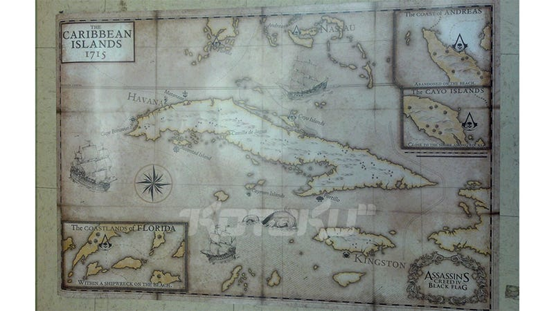 Illustration for article titled The Other Side of that Supposed Assassin's Creed IV Poster is a Map