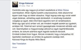 Illustration for article titled Meghalt a Fidesz-székháznál őrizetbe vett fiatal aktivista