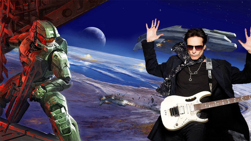 Illustration for article titled There Is Video Evidence Of Steve Vai Shredding On The Halo 2 Soundtrack