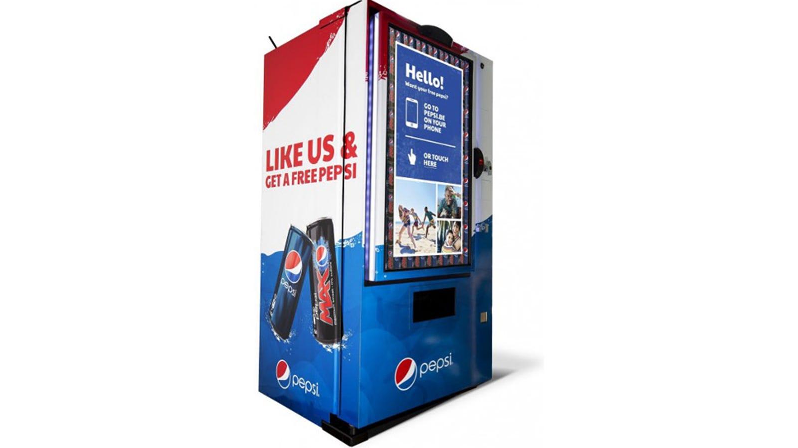 Esta máquina de Pepsi funciona con 'Me gusta'
