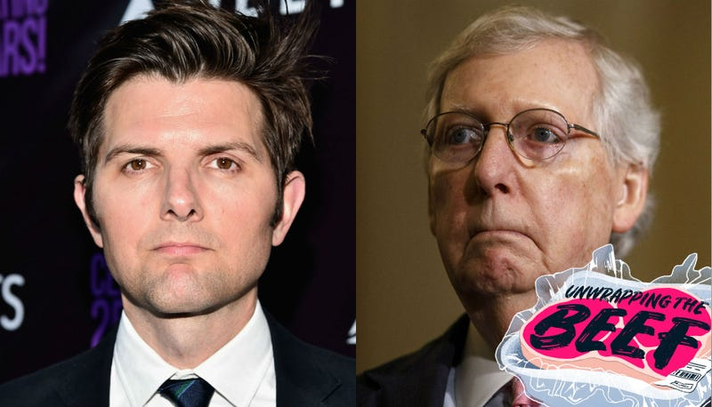 Illustration for article titled Adam Scott and Mitch McConnell Are in a Fight Involving Parks and Recreation GIFs and the Confederate Flag