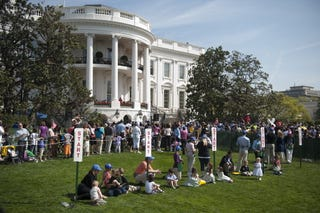 The White House Easter Egg Roll will be held today. (Getty Images)