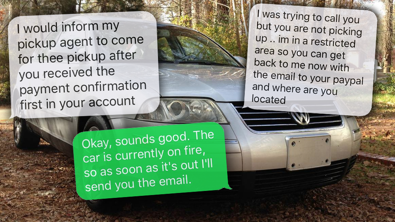 How A Craigslist Scammer Tried To Steal My Mom's Car