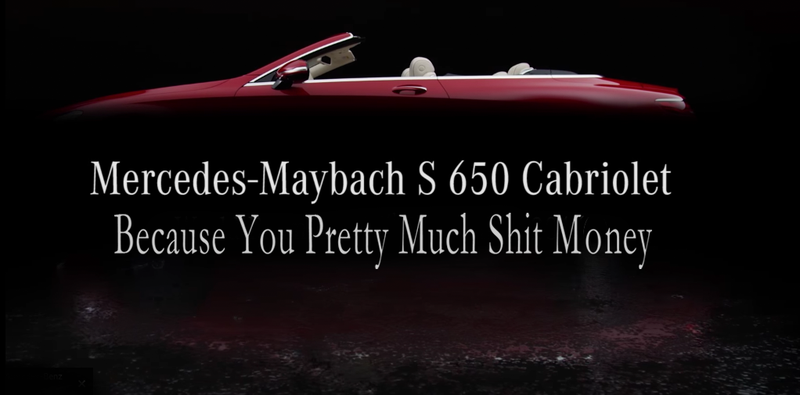 Illustration for article titled Mercedes Teases The New Mercedes-Maybach S 650 Cabriolet For People In God's Tax Bracket