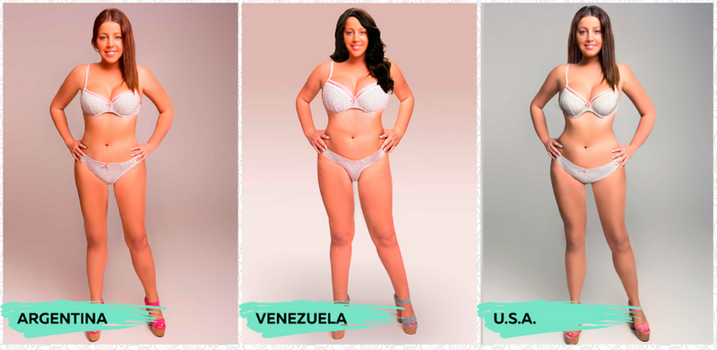 Illustration for article titled Photoshop Reveals How Different Countries See Body Image