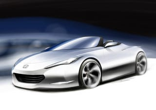 Illustration for article titled Honda OSM Convertible Low-Emission Sports Car To Bow At British Motor Show