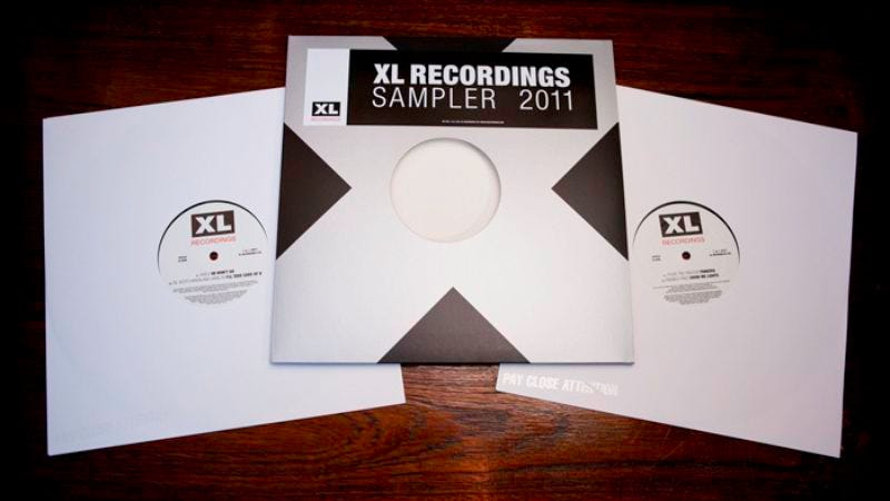 Illustration for article titled Get a free XL Recordings sampler on credibility-establishing vinyl