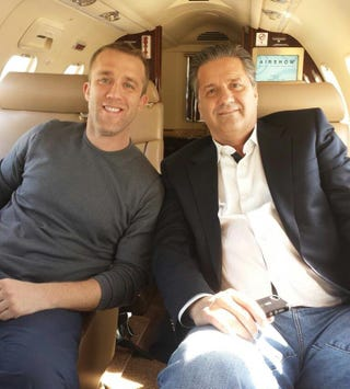 Illustration for article titled So, Why Was John Calipari Hanging Out With Tucker Max?
