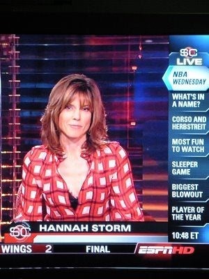Illustration for article titled Hannah Storm Knows She's Being Watched By Drooling Morons