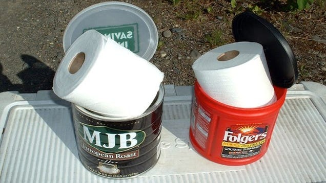Keep Your Toilet Paper Dry While Camping With A Coffee