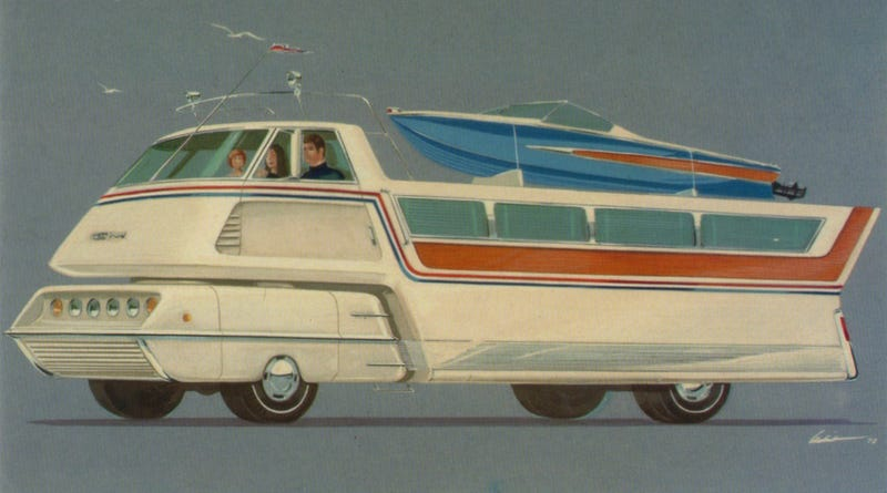 "Illustration for article titled It's Probably Good GM's Gas-Guzzling ""Leisure-Mobile"" Never Got Made"