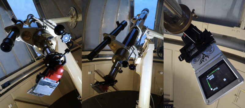 Why yes, that's a Game Boy strapped to a 179 year old telescope (Image: Alex Pietrow)