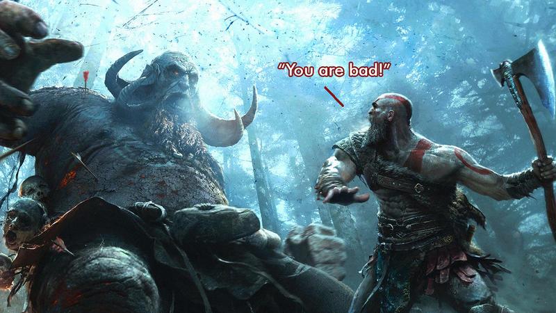 Kratos tells it like it is.