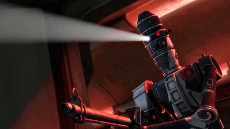 An IG-86 Sentinel Droid, as seen in Star Wars: The Clone Wars. Also not the droid you're looking for!