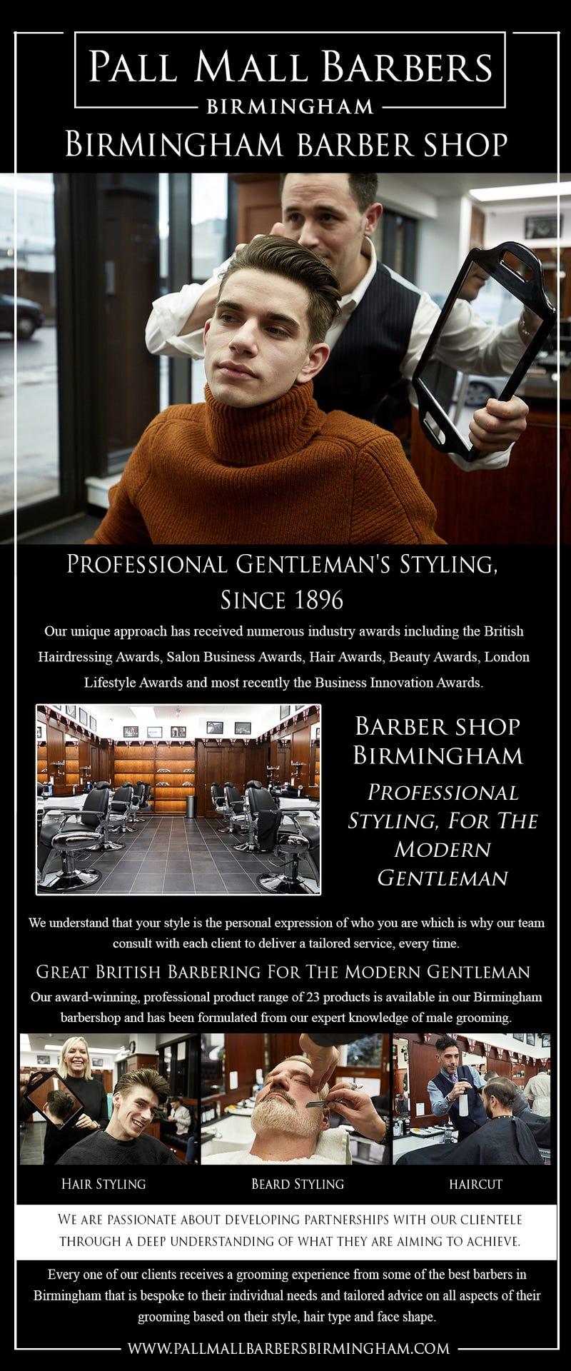 Illustration for article titled Birmingham Barber Shop   Call 01217941693   pallmallbarbersbirmingham.com