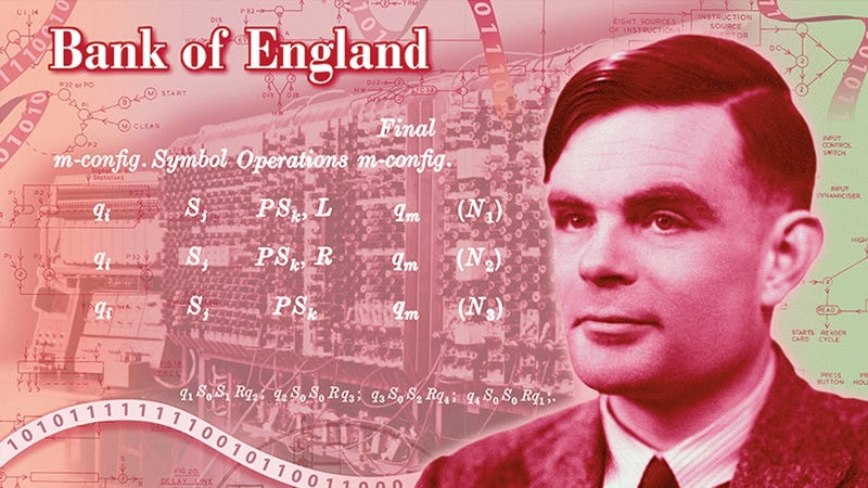 Illustration for article titled Computer Science Legend Alan Turing to Appear on New £50 Note in UK