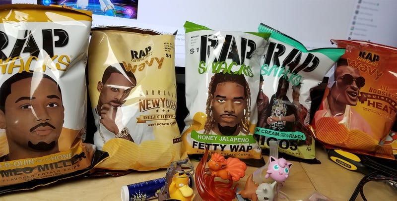Illustration for article titled Snacktaku Eats Rap Snacks Potato Chips, The 'Official Snacks Of Hip-Hop'