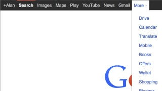 Illustration for article titled Bring Back Google's Black Menu Bar with This Custom URL