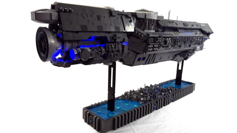 a lego halo ship that took three years to build kotaku uk