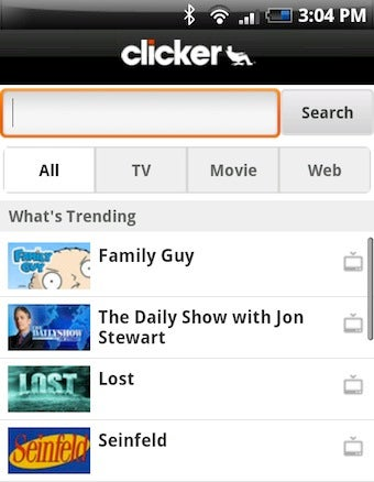 Illustration for article titled Clicker Mobile Brings Online TV Shows, Remote Queue Management to Your Smartphone
