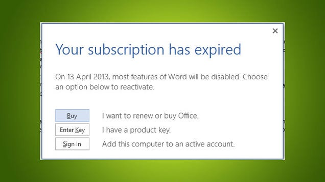 My microsoft office has expired and iv tried downloading it again but it keeps saying its expired.!!!?