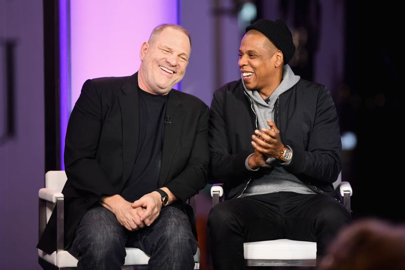 Harvey Weinstein and Jay Z at Time and Punishment: A Town Hall Discussion With Jay Z and Harvey Weinstein on Spike TV at MTV Studios on March 8, 2017, in New York City. (Dave Kotinsky/Getty Images for Spike)