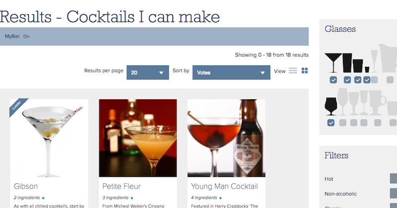 Illustration for article titled Make Me a Cocktail Suggests Drink Recipes Based on Ingredients You Have at Home