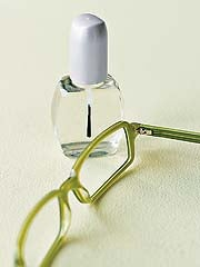 Illustration for article titled Fix your glasses with clear nail polish