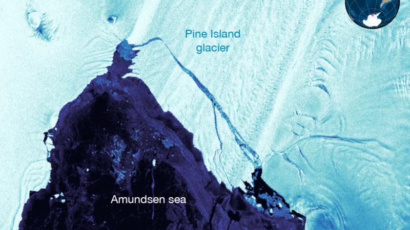 Satellite image taken of the new iceberg on September 24, 2017. (Image: Sentinel1)