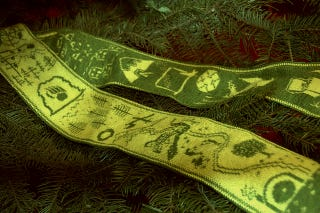 Illustration for article titled This reversible scarf bears a pictorial retelling of The Hobbit