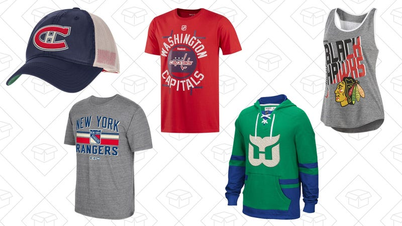 50% off all NHL t-shirts, jerseys, and hats from Reebok with code NHL50