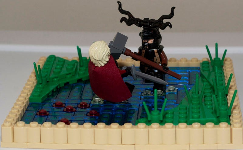Illustration for article titled Bran the Builder would be envious of these GoT Lego displays