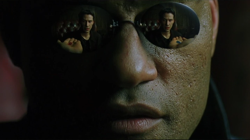 Image result for morpheus take the red pill