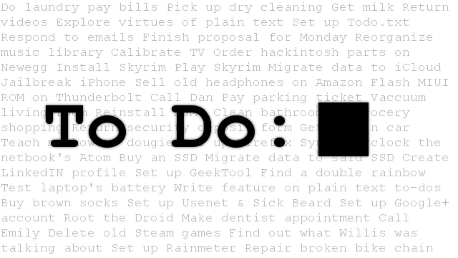 Why You Should Set Up Your To-Do List in a Plain Text File (and How