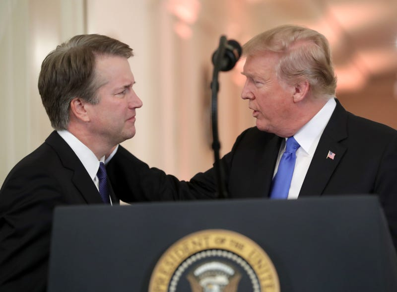 President Donald Trump introduces U.S. Circuit Judge Brett M. Kavanaugh as his nominee to the United States Supreme Court during an event in the East Room of the White House July 9, 2018 in Washington, D.C.