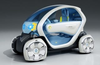 Illustration for article titled Crazy Electric Renault Concept Has Crazy Square Tires