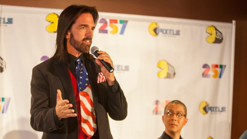 Billy Mitchell at the Pac-Man 35th Birthday Celebration, May 22, 2015, in Schaumburg, Ill.