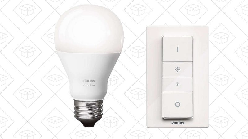 Philips Hue Wireless Dimming Kit, $28 | Philips Hue Color Bulb, $41