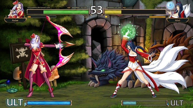 Illustration for article titled League of Legends, As a 2D Fighting Game