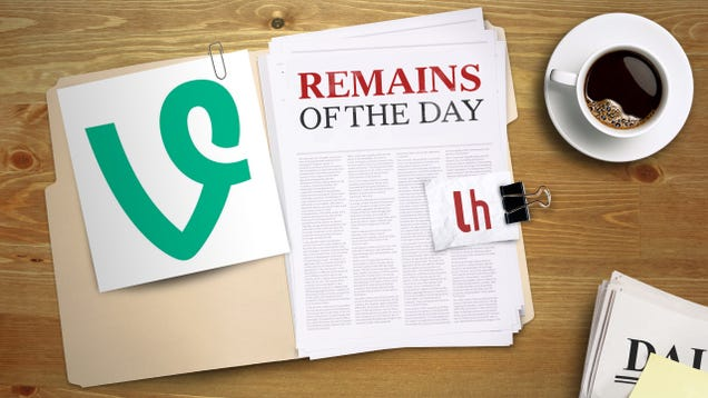 Remains of the Day: Twitter Is Shutting Down Vine